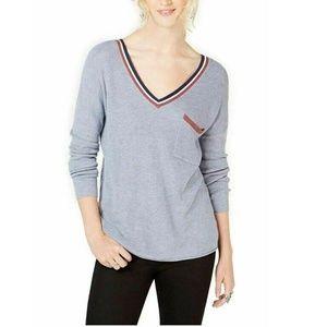 Hippie Rose Juniors Medium Grey Sweater 5AH83